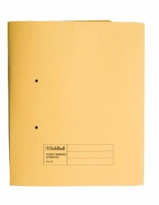 Guildhall Heavy Weight Pocket Spiral File Yellow - 25 Pack