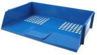 Q CONNECT WIDE ENTRY LETTER TRAY BLUE