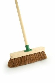 Coco Soft Broom with Handle 12 inch F.01/Black