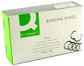 Q CONNECT BINDING RINGS 19MM PK100