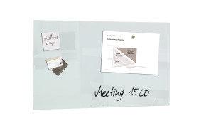 SIGEL MAG GLASS BOARD 780X480 WHT GL131