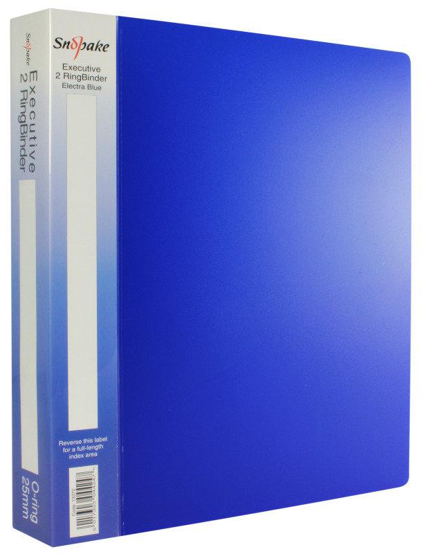 SNOPAKE EXEC RBDR A4 25MM ELECTRA BLU