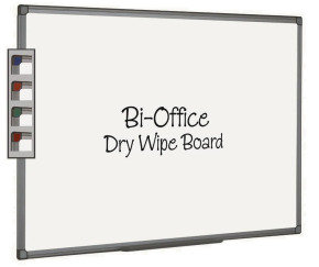 BIOFFICE WHTBRD 1800X1200MM ALUM FINISH