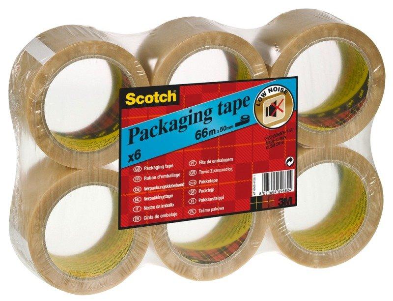 Scotch Pack Tape Pvc 50mmx66m Clear - 6 Pack