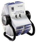 Rolodex Business File Black 400 Capacity