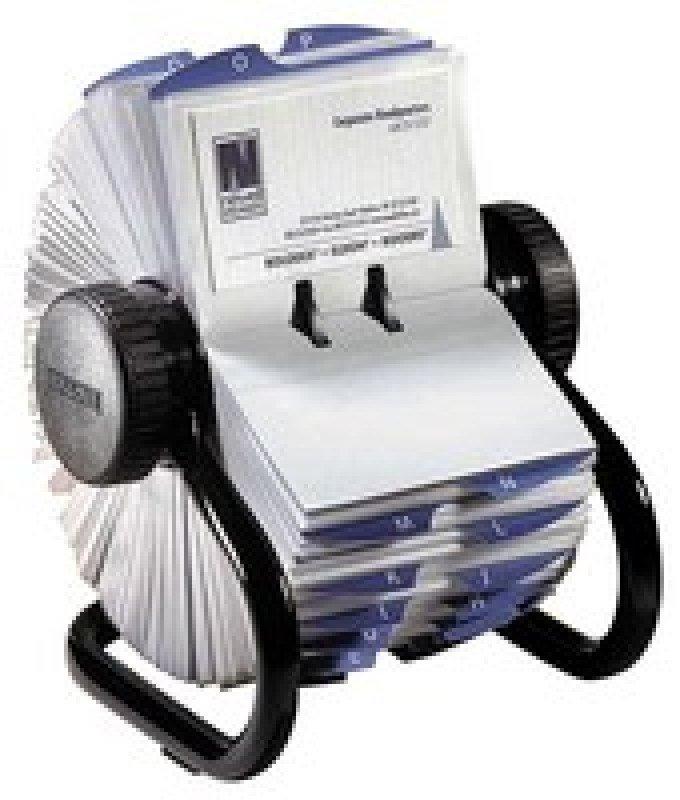 Rolodex Business File Black 400 Capacity