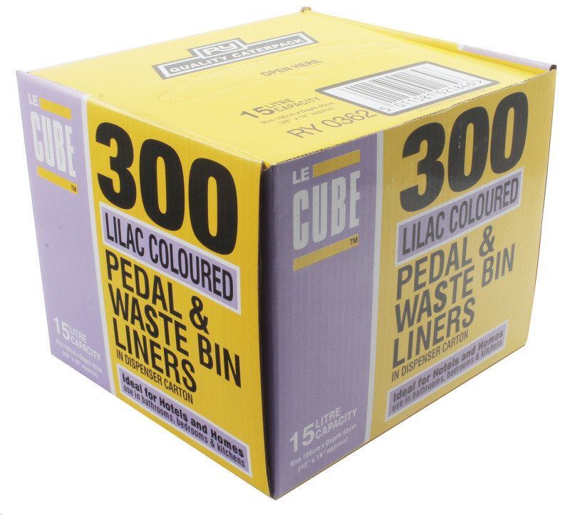 LE CUBE PEDAL BIN LINERS PK300