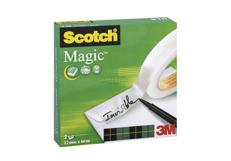 Scotch 810 Magic Tape 12mmx66m - 2 Pack