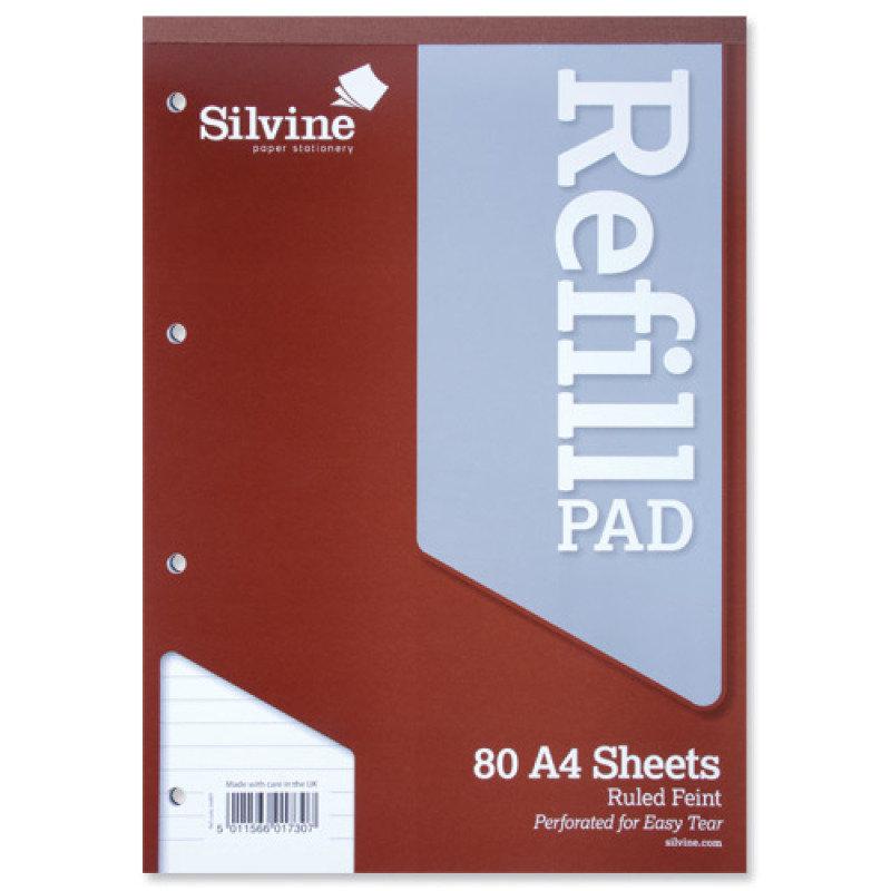 Silvine Refill Pad A4 80sht Fnt A4rpf - 6 Pack