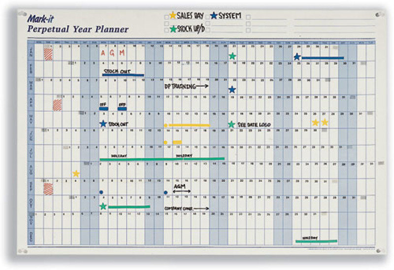 Image of PERPETUAL YEAR PLANNER MAP MARKETING PYP