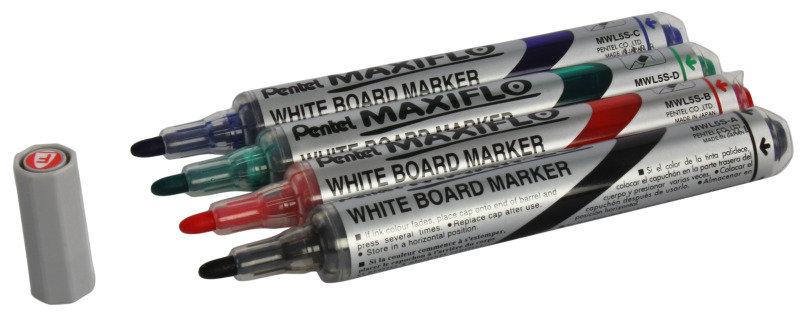 PENTEL WHITEBOARD MARKER FN BLT AST PK4