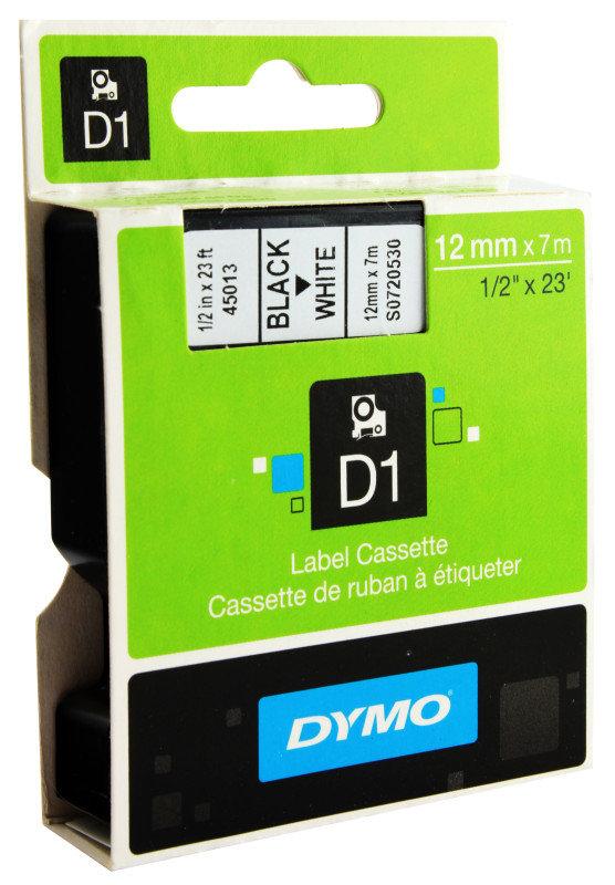Dymo 4500 Black on White Tape