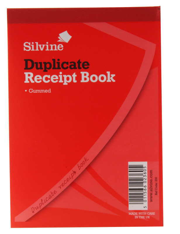 Silvine Receipt Bk 4x5.25 Gummed Dup 230 - 12 Pack
