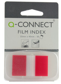 Q CONNECT PAGE MARKER 1IN 50 SHTS RED