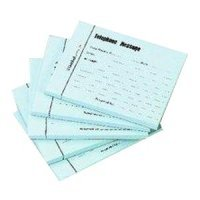 Guildhall Justso Telephone Message Pad 100lf Blue 110 - 5 Pack
