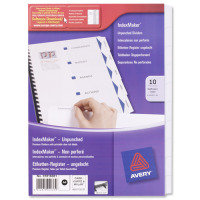 Avery Index Maker Divider A4 10-Part White Unpunched