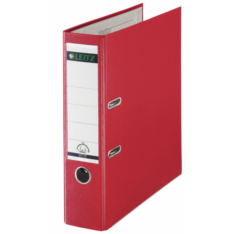 Leitz Leverarch Pp A4 80mm Red 1010-25 - 10 Pack