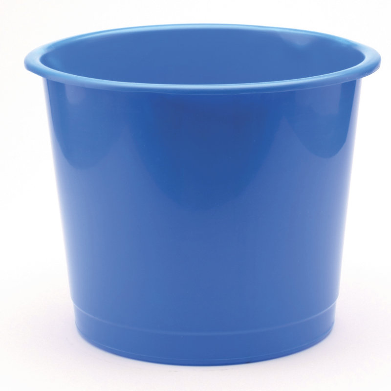 Q Connect 15 Litre Waste Bin - Blue