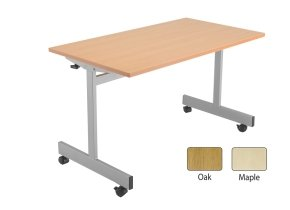 FF JEMINI 1200MM FLIP TOP TABLE OAK