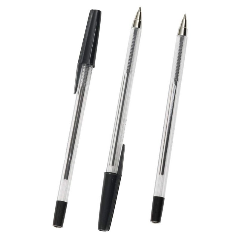 Q Connect Ballpen Medium Black - 20 Pack