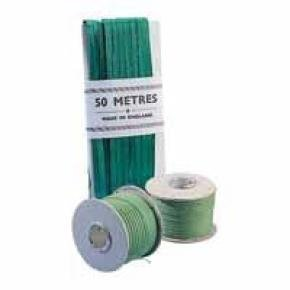 China Ribbon Cotton Green Roll 4mmx30m