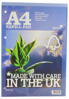 Silvine A4 Refill Pads Blue R201 - 5 Pack