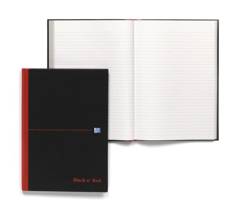 Blk N Red Manubk A4 Ft 100080446 - 5 Pack