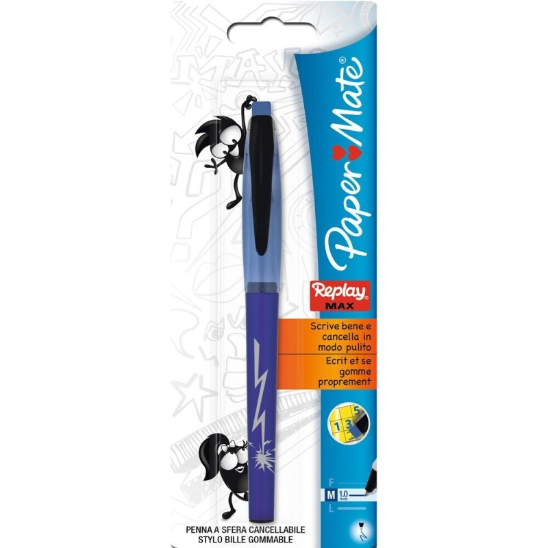 Papermate Replay Max Blister Blue  12 Pack