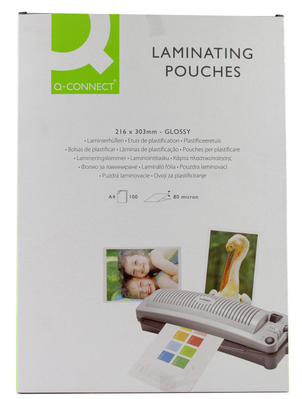 Q-Connect A4 Laminating Pouch 160 Micron - 100 Pack