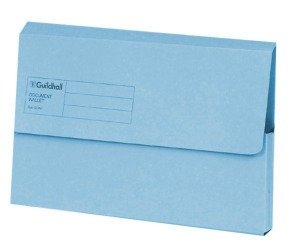 Guildhall Document Wallet Blue Angel Blue - 50 Pack