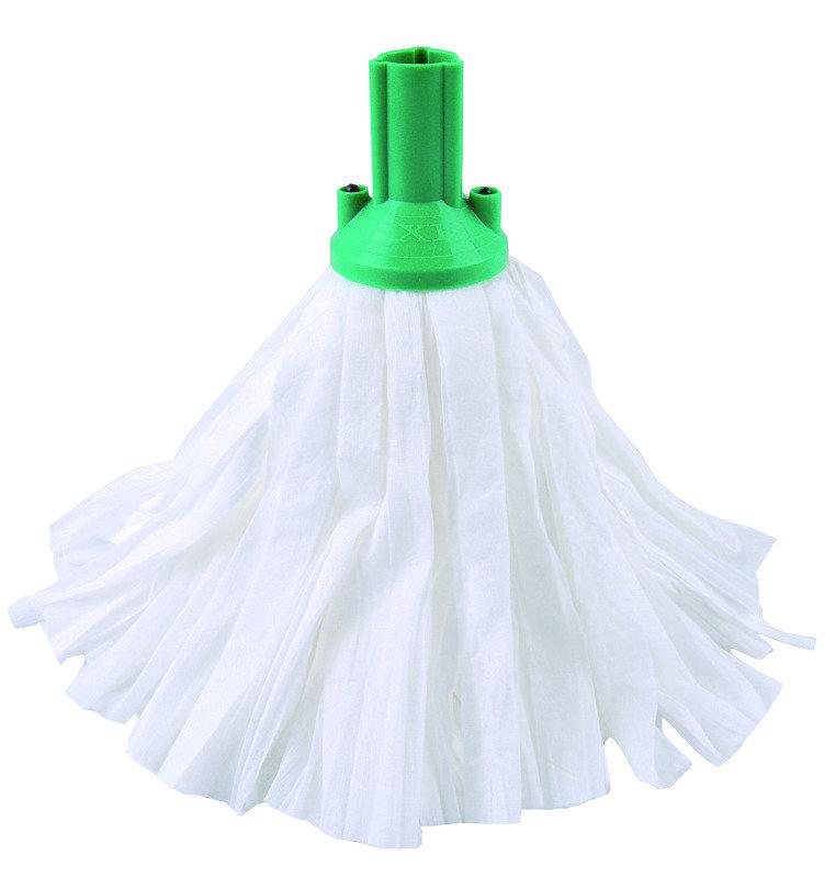 Standard Big White Exel Mop Green (Pack of 10)