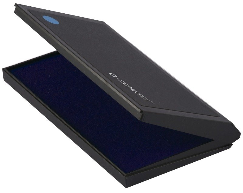 Q-Connect Large Stamp Pad Metal Case Blue