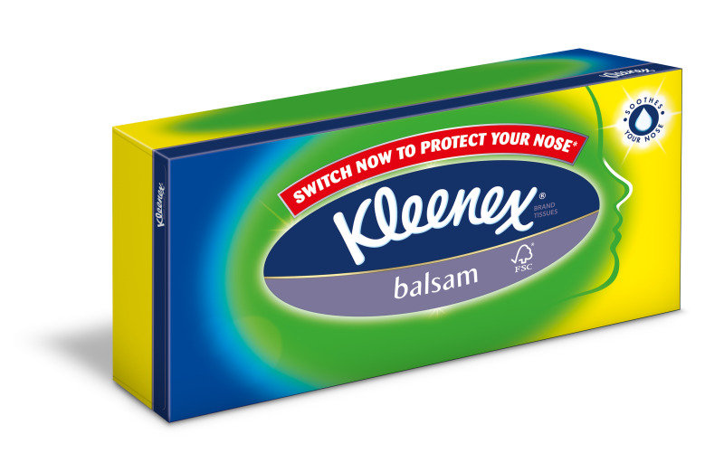 Image of KLEENEX BALSAM TISSUES 80S WHITE 3389000