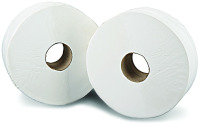 2Work White 76mm Core 2 Ply Jumbo Roll 92mm x 410m (Pack of 6)