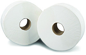 2Work White 76mm Core 2-Ply Jumbo Roll (Pack of 6)