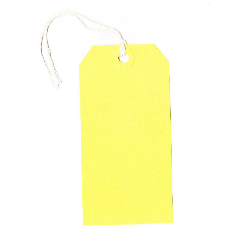 Q CONNECT STRUNG TAG 120X60MM YLW PK1000