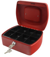 Q Connect 8 Inch Cash Box - Red