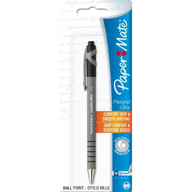 Papermate Flexgrip Rt Bp Blister Blk - 12 Pack