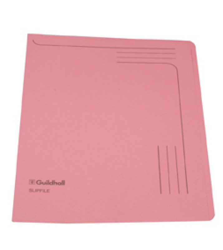Guildhall Slipfile 12.5x9in Pink 14604 - 50 Pack