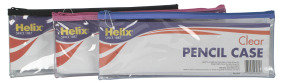 HELIX CLEAR PENCIL CASE 330X125 AST P12