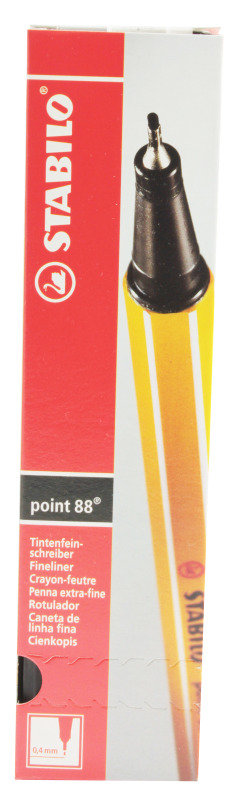 Stabilo Point88 Fineliner Blk 88/46 - 10 Pack
