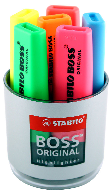 STABILO BOSS TUB 6 ASSORTED 7006