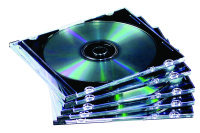Fellowes Slimline Clear Jewel Case - 10 Pack