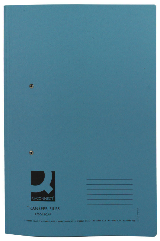 Q Connect Transfer File Fc Blue - 25 Pack