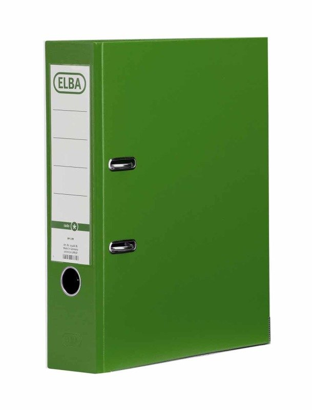 Elba Board Lever Arch File A4 Green - 10 Pack