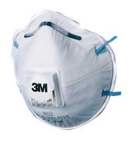 3M Respirator P2 Valved 8822 Pk 10