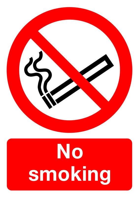 SIGNSLAB A4 297X210 NO SMOKING S/A