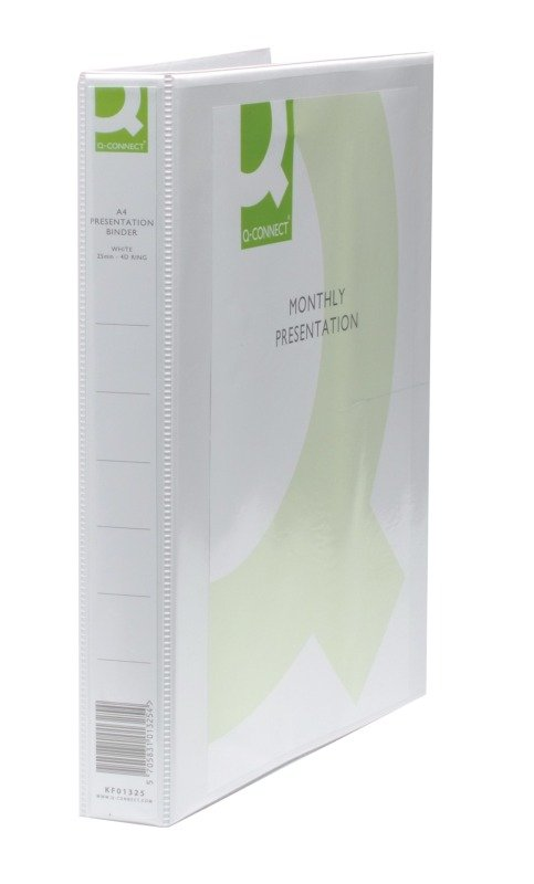 Q-Connect 2 Ring Presentation Binder White