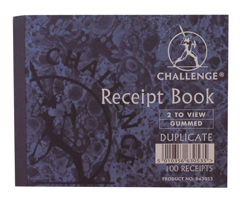 Image of Challenge Duplicate Book Receipt 105x130 - 5 Pack