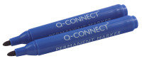 Q Connect Perm Marker Bullet Blue - 10 Pack